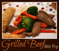 Grilled Beef with Vegetable Stir Fry