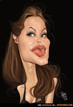 Caricatura de Angelina Jolie.
