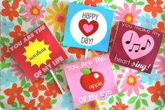 Free printable lollipop covers. Great for my classroom!