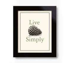 Cabin Decor Pinecone Vintage Cabin Sign Art Print by DexMex, $18.00