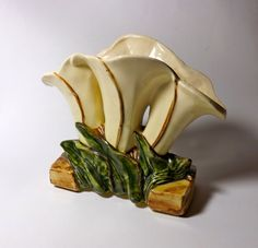 Vintage Calla Lily Mc Coy 3 Section Vase by borahstyle on Etsy, $40.00