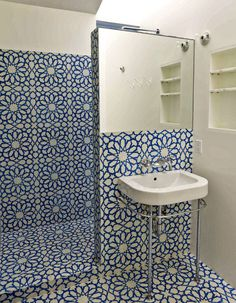 Granada Tile: AlhambraBlueWhiteGranadaCementTile-HR copy