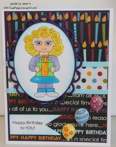 Crafty Girl 21!: Inspired Stamps Birthday Card