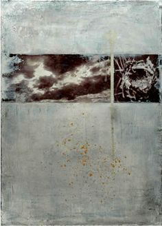 """Sadatsugu toboe ... """"song of the birds-08-3"""", photograph, pigments and oil on canvas - H : 46cm x L : 33cm - 2008"""
