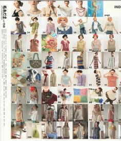 Keito Dama Knitting/Crochet Magazine 158 2013: Index