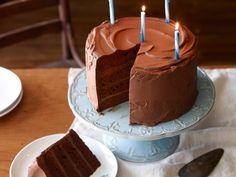 Big Chocolate Birthday Cake Recipe : Ree Drummond -The Pioneer Woman - Episode: Ladd's Birthday - Food Network - FoodNetwork.com