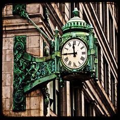 Marshall Field's famous clock. Still miss this place.
