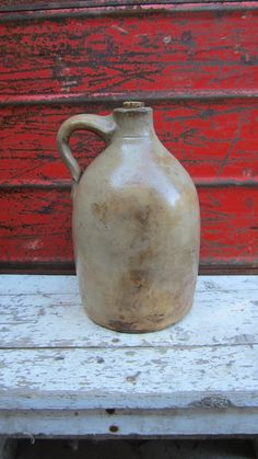 Primitive Antique Hooch Jug Old Time by TheOldTimeJunkShop on Etsy, $56.00