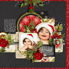 Merry Christmas, Baby - Sweet Shoppe Gallery - Cindy's Layered Templates - Set 132 by Cindy Schneider  Once Upon A Christmas: 5. Celebrating by Kristin Cronin-Barrow