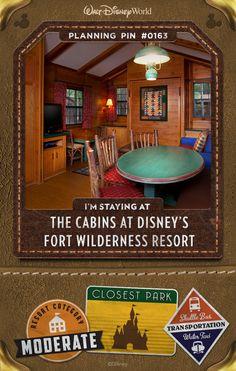 Walt Disney World Planning Pins: The Cabins at Disney's Fort Wilderness Resort