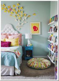 Girls bedroom whimsical.