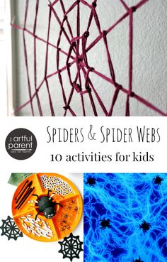 Spiders and Spiderweb Activities - 10 of the best ideas for kids