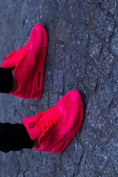 ...her active wear has to range from fresh to def like mine ~ or she gets the 'special needs treatment' with the quickness~~~! fashion, style, pink, nike shoes, sneakers, nike free runs, nike air max, bright colors, airmax