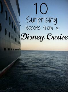 "Table Manners, Social Skills, Science and More - ""10 Surprising Lessons from a Disney Cruise"" via @Babble"