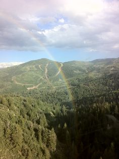 A Rainbow on the way to Red Pine #evoconf