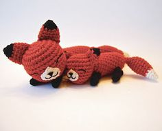 Mother Fox and Baby Fox, free pattern by Allison Hoffman