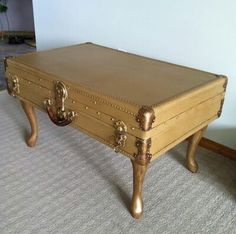Suitcase table....I could Do This!