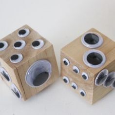 Googley Eye Dice | Looksi Square googly eyes, eye dice, googley eye