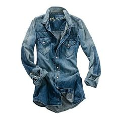 Every cowgirl's closet needs a great denim shirt!