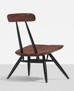 Lacquered Pine Lounge Chair | Ilmari Tapiovaara | 1956