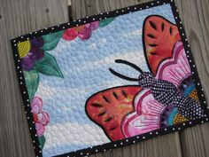 Close up of the wonderful mug rug that was made by nanotchka! by FlossieBlossoms, via Flickr