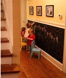 Chalkboard Painted 1/2 Wall!