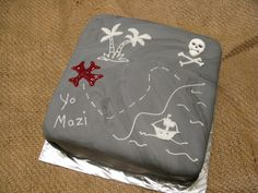 """Pirate Map"" cake by Bret Ashlee Watson"