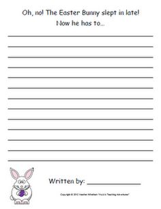 Free K-5 Differentiated Easter and Spring Story Starters