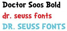 Multiple links to Dr. Seuss style fonts and links to activity ideas