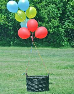 Hot Air Balloons 1st Birthday Birthday Party photo props!  See more party ideas at CatchMyParty.com!