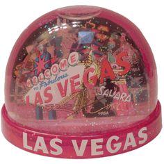 Pink Las Vegas Dome Snowglobe