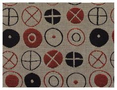 Circles was designed by Charles and Ray Eames for a 1947 textile competition at the Museum of Modern Art.
