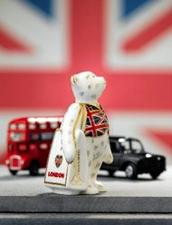 Union Jack - London Bus - London Taxi - Royal Crown Derby Best of British collection
