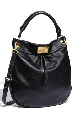 The perfect black + gold leather bag. Marc Jacobs