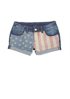 stars and stripes shorts. Flag