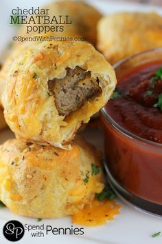 Cheddar Meatball Pop