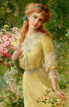 """Portrait of a Girl"" by Emile Vernon."