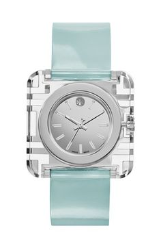 Tory Burch 'Izzie' Square Leather Strap Watch, 36mm | Nordstrom - obsessed!