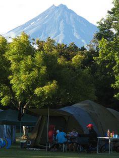 Camping in Taranaki, New Zealand