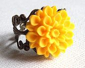 Sunshine flower ring $8.00