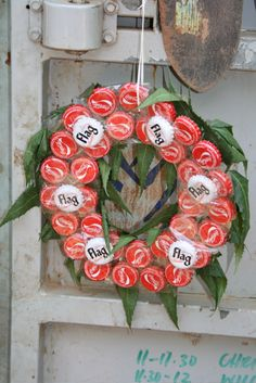 Bottle top wreath