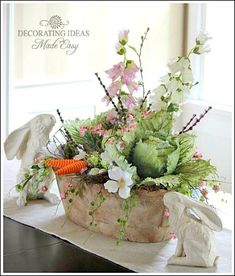 Easter decorating ideas - make this Easter centerpiece!
