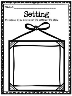 FREE Setting  Graphic Organizer-A great tool to use when teaching students about the setting. #free  #teach  #tpt