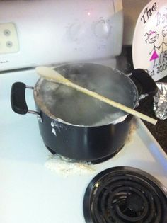 A wooden spoon does NOT prevent your pot from boiling over. Or at least that's what one of our readers discovered. See more fails at EpicPinterestFail.com