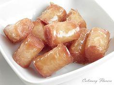 Kourkoubínia (Little Phyllo Rolls) syrup, sweet, greek, food, favorit recip, yummi, rolls, phyllo roll, dessert