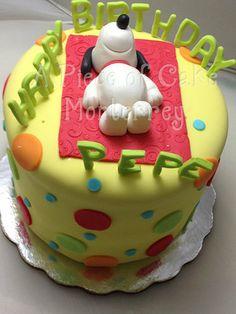 Snoopy Birthday Cake Cake by claudiaegb
