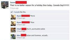 Police on you ! charm, grammar fail, funni stuff, facebook moment, correct, facebook fail, funni thing, grammar polic, facebook grammar