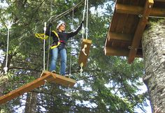 Ever wanted to be a monkey for a day? Tree to Tree Aerial Adventure Park recently opened on Hagg Lake near Portland, Oregon and offers the opportunity to dangle as high as 50 feet off the ground. This playground amid Douglas fir trees features aerial ropes courses, ziplines and treetop obstacles. Put on a helmet and harness and move from treetop platform to treetop platform via wobbly bridges, tightropes and ziplines.