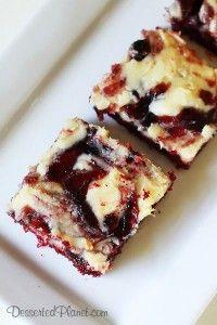 Red Velvet and Blueberry Ooey Gooey Butter Cake