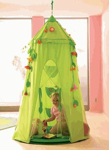 I like this little canopy/tent for a little girls room!!
